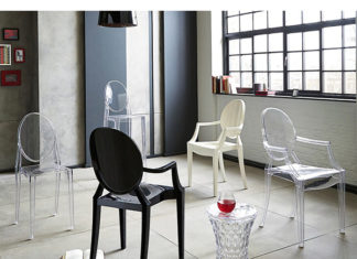 cadeira de acrilico gosth