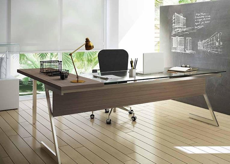 Mesa de vidro para escrit rio sofistica o blog m veis office - Escritorio pared ...