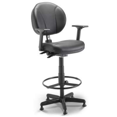 Cadeira Caixa Executiva Giratória com Costura Back System – Operativa