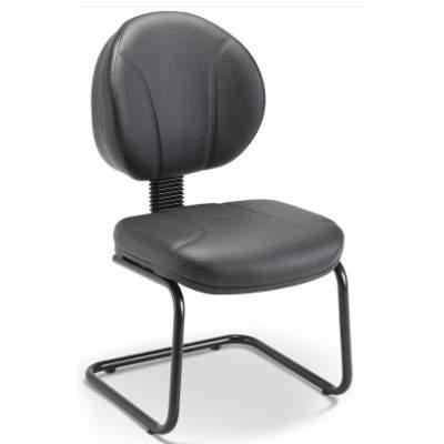 Cadeira Diretor Fixa de Aproximação com Costura sem Braço