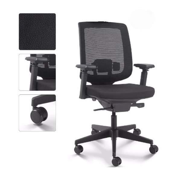 Cadeira Executiva Giratória Ergonômica Telada com Braço – 28001 – C3