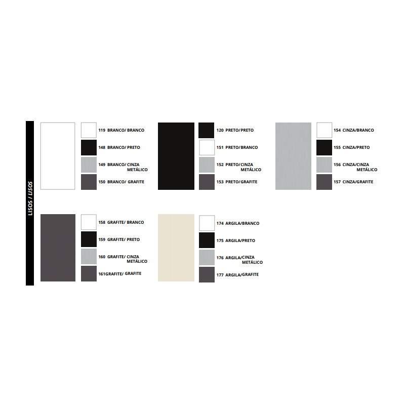 Mesa Plataforma 6 Lugares com Divisória Revestida em Tecido Painel Luca
