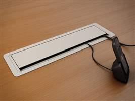 Caixa de tomada para mesa PL com 3,6,9 ou 12 módulos