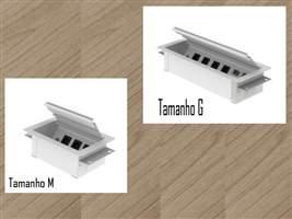 Caixa de tomada para mesa OF2 no tamanho  M ou G