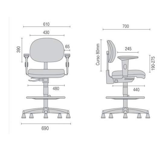 Cadeira Caixa Giratória Executiva C/B CG0812310 Stilo Cavaletti