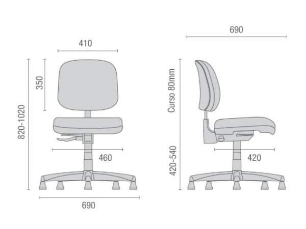 Cadeira Caixa Giratória Executiva Costureira S/B  CG0412301 Start Cavaletti