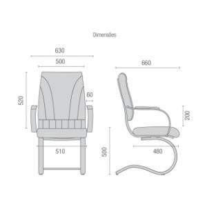 Cadeira Escritório Fixa PF2000612 Master Cavaletti