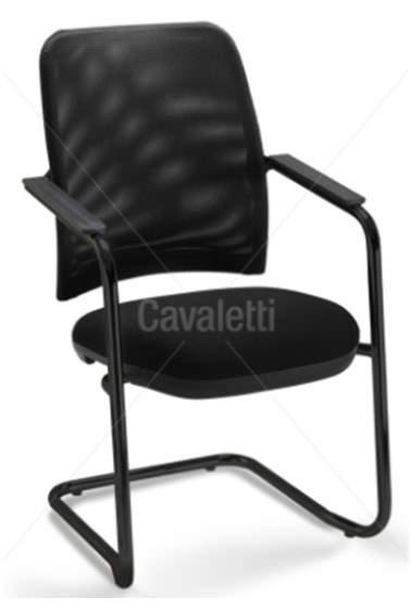 Cadeira Escritório Fixa PF1600602 New Net Cavaletti