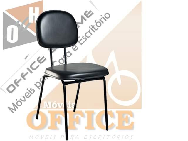 Cadeira Sem Braço Stille Secretária 4 pés