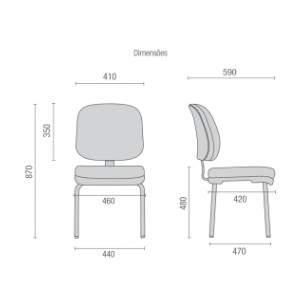 Cadeira Escritório Fixa Executiva CF0410703 Start Cavaletti