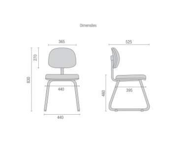 Cadeira Escritório Fixa Secretária CF0410811 Start Cavaletti