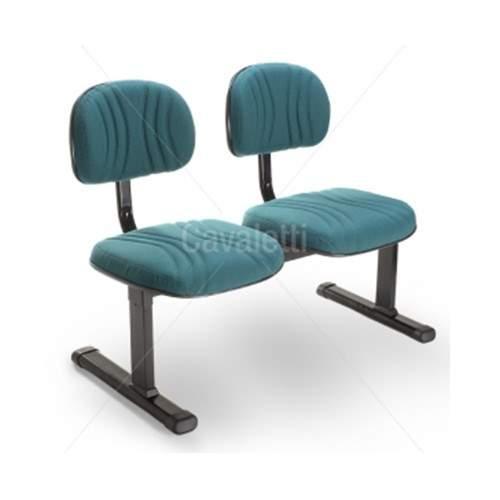Cadeira Longarina Secretária de 2 Lugares CS0300901 Start Plus Cavaletti