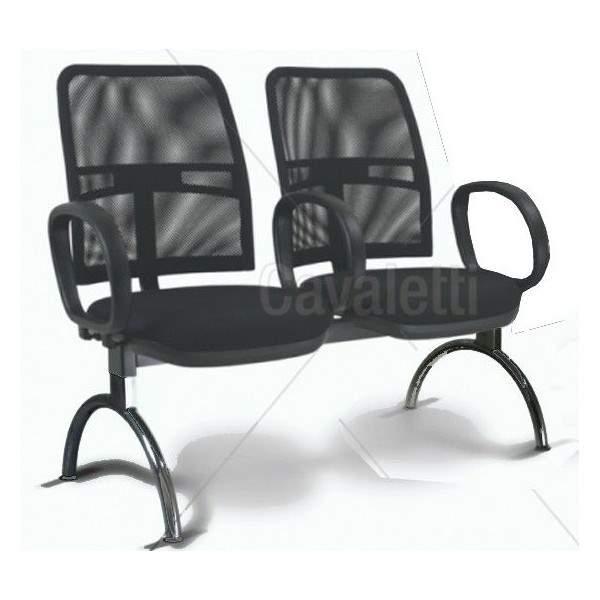 Cadeira Longarina Diretor de 2 Lugares  CS1611052 New Net Cavaletti