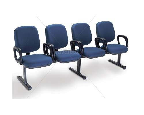 Cadeira Longarina Diretor de 4 Lugares PA0400527 Start Cavaletti