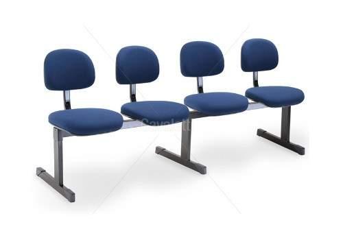 Cadeira Longarina Secretária de 4 Lugares CS0490031 Start Cavaletti