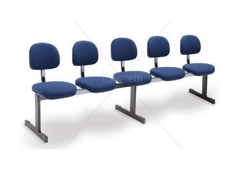 Cadeira Longarina Secretária de 5 Lugares CS0490030 Start Cavaletti