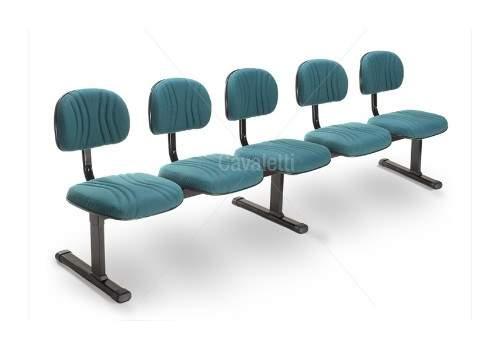 Cadeira Longarina Secretária de 5 Lugares CS0300904 Start Plus Cavaletti