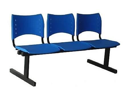 Cadeira Longarina Secretária de 3 Lugares ISO