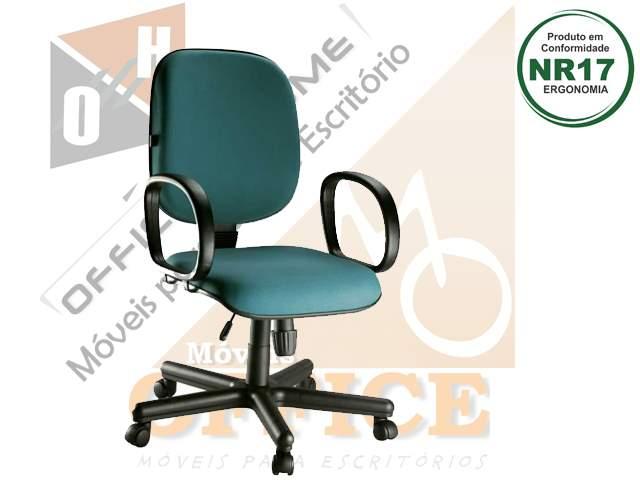 Cadeira Diretor Giratória com Braço Fixo
