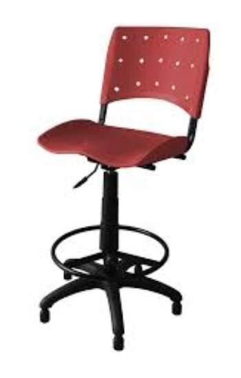 Cadeira Caixa Giratória Secretária Polipropileno S/B Ergoplax Plax