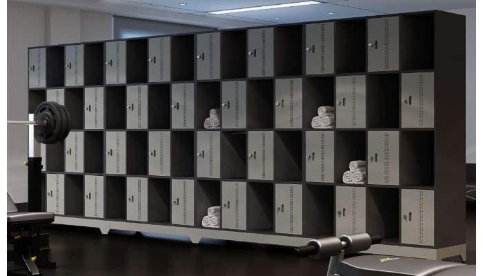 Armário Escritório Guarda Volumes 64 Portas Intercaladas Locker