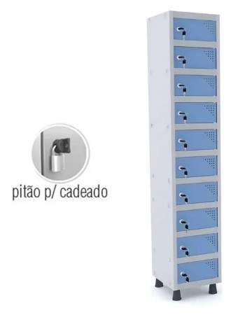 Armário Escritório Guarda Volumes Objetos 10 Portas APOP 501/10 Pandin