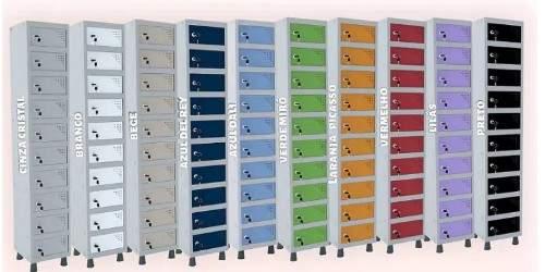 Armário Escritório Guarda Volumes Objetos 30 Portas APOF 503/30 Pandin