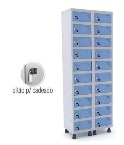 Armário Escritório Guarda Volumes Objetos 20 Portas APOP 502/20 Pandin