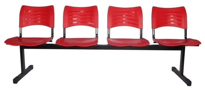 Cadeira Longarina Secretária de 4 Lugares Turin