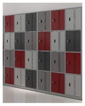 Armário Escritório Guarda Volumes 24 Portas Locker