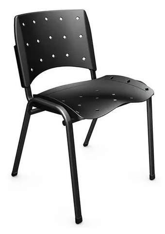 Cadeira Escritório Fixa Empilhável Ergoplax