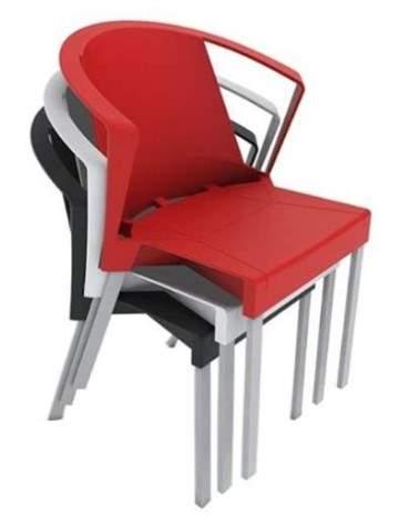 Cadeira Escritório Fixa Empilhável Shine