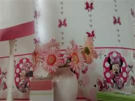 Papel de Parede Infantil - Faixa Decorativa Disney Minnie (Rosa) 1007702