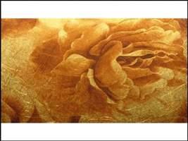 Papel de Parede - Rosas (Dourado e Bege) 900660802