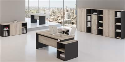 Mesa Diretor em L com gaveteiro