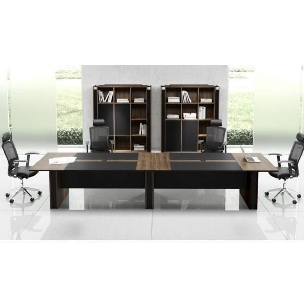 Mesa de Reunião Retangular com Pé Painel – 12 Lugares – Acta – 3120x1200