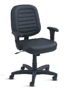 Cadeira Giratória Diretor Costura C/B Viena Plus Office