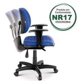 Cadeira Giratória Executiva Back System Costura C/B Viena Plus Office