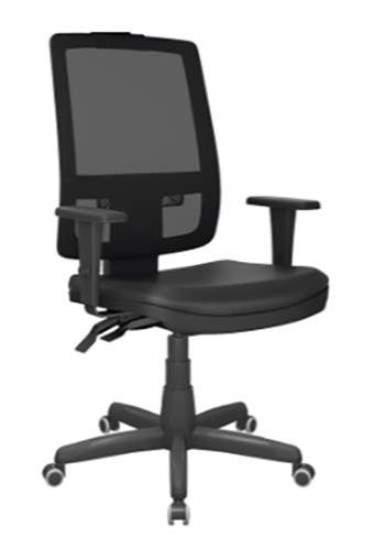 Cadeira Giratória Presidente Tela C/B Brizza Plax