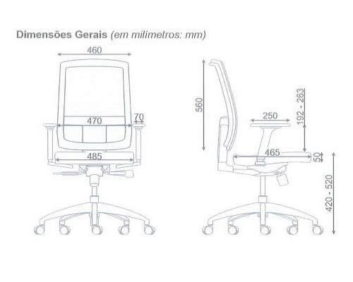 Cadeira Giratória Presidente Tela C/B Brizza
