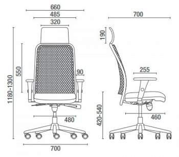 Cadeira Giratória Presidente Extra Tela C/B PG1610205 NewNet Cavaletti