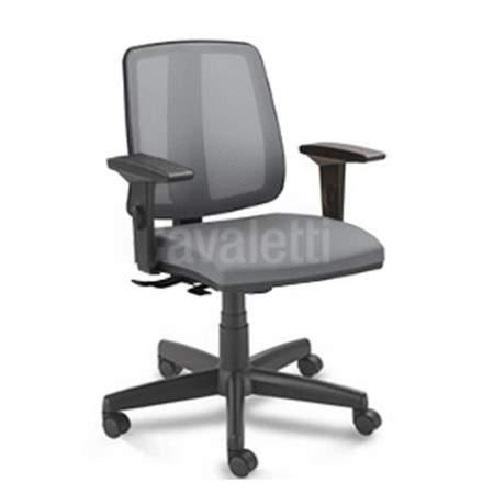Cadeira Giratória Executiva Encosto Tela C/B CG4310302 Flip Cavaletti