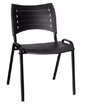 Cadeira Escritório Fixa Empilhável Iso