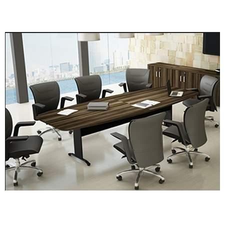 Mesa de Reunião Semi Oval Pés em Aço 10 Lugares 3000x1200 Trieste