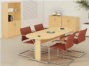 Mesa de Reunião Semi Oval Muno