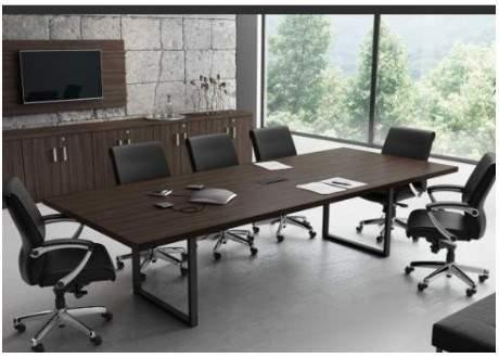 Mesa de Reunião Retangular Pé O 6 Lugares 2000x1200 Trieste