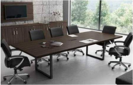 Mesa de Reunião Retangular Pé O 8 Lugares 2400x1200 Trieste