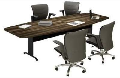 Mesa de Reunião Semi Oval Pés em Aço 4 Lugares 1600x1200 Trieste