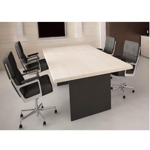 Mesa de Reunião Retangular Pé Painel 4 Lugares 1600x900 Faro 25M