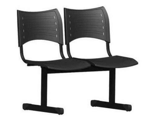 Cadeira Longarina Secretária de 2 Lugares ISO